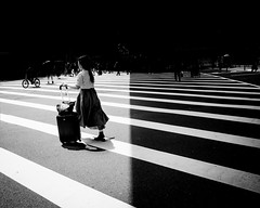 [of] light and darkness II (Shirren Lim Photography) Tags: blackandwhite monochrome people crossroads japan ricoh graphic lines abstract outdoor park symmetry osaka namba streetphotography