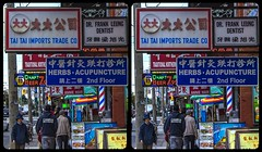 China Town of Toronto 3-D / Stereoscopy / CrossView / HDR / Raw (Stereotron) Tags: toronto to tdot hogtown thequeencity thebigsmoke torontonian chinatown downtown streetphotography urban citylife architecture signage advertisments north america canada province ontario crosseye crosseyed crossview xview cross eye pair freeview sidebyside sbs kreuzblick 3d 3dphoto 3dstereo 3rddimension spatial stereo stereo3d stereophoto stereophotography stereoscopic stereoscopy stereotron threedimensional stereoview stereophotomaker stereophotograph 3dpicture 3dglasses 3dimage twin canon eos 550d yongnuo radio transmitter remote control synchron kitlens 1855mm tonemapping hdr hdri raw