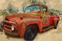 old truck_1559edit (JGKphotos) Tags: d7100 johnkunze wisconsin cars oldcars 7styles topaz topazsoftware topazstudio topazglow
