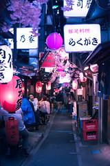 Omoide Yokocho in Shinjuku - Tokyo, Japan (inefekt69) Tags: japan tokyo night street asia city nikon d5500 日本 東京 shinjuku 新宿 neon omoideyokocho cherryblossoms memorylane sakura 思い出横丁