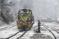 Banovici Blizzard (channel packet) Tags: bosnia railway narrowgauge snow weather blizzard worker diesel locomotive oskova davidhill