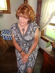 Just A Girl At Home (Laurette Victoria) Tags: dress necklace auburn laurette woman