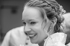 Bride b/w (thx for 4M views - pego28) Tags: 2017 volkersdorf erlangen germany bride braut bw sw portrait blond women frau girl