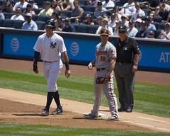 Judge with Orioles 1st baseman Chris Davis (Mark Shallcross) Tags: yankees yankeestadium orioles baseball mlb 0f4a0237r10x8 davis chrisdavis judge aaronjudge