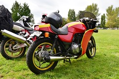 1982 Suzuki GSXE 400cc cafe custom (70_musclecar_RT+6) Tags: britishmotorcycledaymarch192017 1982 suzuki gsxe 400cc cafe custom