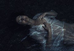 Moonlight's soul (Sus Blanco) Tags: moonlight portrait conceptual fineart water white light nature ophelia