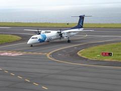 Bombardier Dash 8 approaching Horta 170616_016 (jimcnb) Tags: 2017 juni urlaub azoren azores açores faial horta airport castelobranco cstrg bombardier dash 8 sata