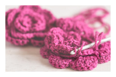In stitches (judi may) Tags: macromonday macro macromondays relaxation crochet crocheting crochethook flowers crochetedflowers dof depthoffield bokeh softness soft wood productshot productphotography stitches pattern stilllife tabletopphotography canon7d hmm