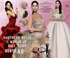 Southern belle and woman in ballgown Bento AO (TUTY Bento Animations) Tags: finger bento ao mocap motion capture