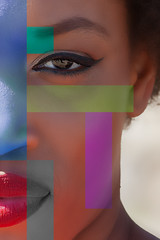 (giuseppe radaelli) Tags: photo ritratto portrait modella model geometrie colore geometrical