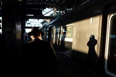 Shadow (dtanist) Tags: nyc newyork new york city newyorkcity sonya7 contax zeiss carlzeiss carl planar 45mm brooklyn coney island stillwell avenue station mta subway terminal train tracks sunlight light shadow orthodox jewish