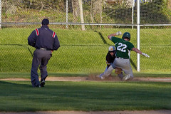 I Say Out...but wait... (brucetopher) Tags: nauset high school varsity highschool baseball ballplayer baseballplayer ballfield baseballdiamond baseballfield diamond bigdiamond youth sports sport kidssports youthsport athlete athletes athletic ball field park ballpark player play passtime pasttime game contest
