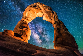 A Portal to the Milky Way at Delicate Arch