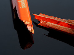 Broken (PrunellaCara) Tags: macromondays broken pencils colour orange objects stilllife macro closeup minimal