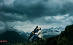 ~ You are my support, you are my everything ~ (whoisnd) Tags: clouds mountains heaven moody love couple rohtang himachal northindia support ontopoftheworld