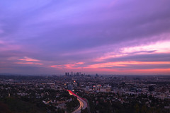light my way (Andy Kennelly) Tags: city los angeles sunset view highway