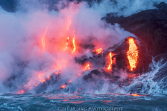 Fire and Water 2 (Jaykhuang) Tags: lavaflows lava bigisland hawaii kilaui hawaiiisland hot heat jayhuangphotography contrast kīlaueavolcano volcano volcanoesnationalpark