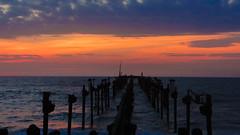 Sunset (Akhil Sanjeev) Tags: sunset golden seabridge alappuzha alleppey beach sea dusk twilight