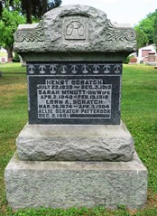 Scratch, Henry  1839 - 1913 (Hear and Their) Tags: grave marker stone gravestone tomb tombstone greenhill cemetery kingsville fraternal masonic oddfellow
