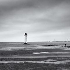 Perch Rock lighthouse (Tim Ravenscroft) Tags: lighthouse perchrock mersey seascape seashore beachseascape monochrome blackwhite blackandwhite hasselblad hasselbladx1d x1d newbrighton wirral england
