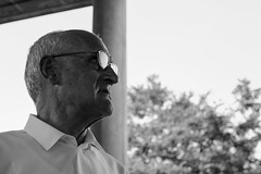 My Grandfather (aitorgonzal.es) Tags: canon old grandfather black bw white shirt glasses man portrait face