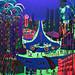 Desenho fluorescentes pintura pinturas brilhando fosforescentes noite luz colorida azul violeta
