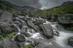 Watercolour (markrd5) Tags: wales snowdonia llynidwal mountain stream water flow river nikon leefilter ndgrad rocks cool brooding mood sky naturegreen