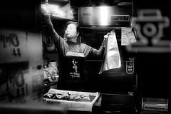 DSCF1725 (yann CM B) Tags: seoul 2017 blackandwhite blackwhitepassionaward blackdiamond streetphotography candid night nightlife market foodmarket woman workers fuji fujixt20 fixlens 35mm window store
