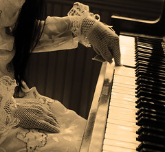 As Time Goes By (coollessons2004) Tags: krystalsmith vintage woman piano