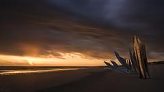 This Morning on Omaha Beach (Tony N.) Tags: france normandie normandy ww2 landing débarquement usa soldiers beach plage omahabeach soldats guerre war lesbraves thebraves sky ciel sunrise leverdesoleil monument saintlaurent saintlaurentsurmer d810 vanguard nikkor1635f4