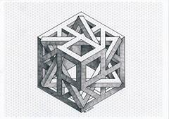 20170611_0011 (regolo54) Tags: impossible isometric penrose triangle mathart regolo54 handmade hexagon oscareutersvärd opticalillusion escher