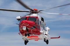 Coast Guard Helicopter G-MCGO (John Ambler) Tags: coast guard rescue helicopter gmcgo leaving st marys hospital heli pad isle wight john ambler johnambler aviation photographer photographs agusta aw189 westland