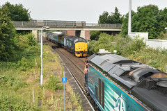 37419 & 68024 - Acle (richa20002) Tags: drs direct rail services class 37 tractor thrash abellio greater anglia aga ga hellfire clag branch line norwich great yarmouth lowestoft wherry lines lhcs loco hauled service short set 68 cat