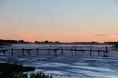 Kukkolaforsen (Elisabeth Aurora V.) Tags: sweden kukkola kukkolaforsen river sunset sunrise mist canon sverige