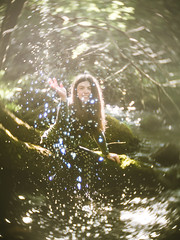 Fairytale River - or ... Chromatic Aberration ... it's kinda funky! (i-r-paulus) Tags: sparkle river water faery fairytale fae fairy cctvlens chromaticabberation legacylens manuallens bokeh bokehlicious swirlybokeh experimental experimentalphotography woodland devon photographer