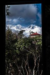 la vista desde mi habitacion (Vacaciones Permanentes) Tags: tengboche nepal vista lhotse trekking fujifilm xt1