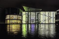 Shining water (++sepp++) Tags: berlin architektur architecture deutschland germany spree wasser water nachtaufnahme nightshot paullöbehaus regierungsviertel administrativedistrict spiegelung reflection mirroring hdr