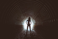 Birthe Dark III (Martin Neuhof | martin-neuhof.com) Tags: birthe dark girl leipzig tunnel martinneuhof fotograf peopel black white