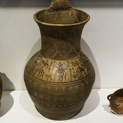 "Greek Archaic Pottery – LG Attic Pitcher (egisto.sani) Tags: atene lgp museoarcheologiconazionale vasi pitcher ""the rattle group"" ""attic pottery"" ""ceramica attica"" ""greek ""ceramica greca"" ""arte ""greek art"" ""late geometrical period"" ""periodo tardo geometrico"" ""lg athens ""national archaeological museum"" ""museo archeologico nazionale"" nm 17497 brocca"
