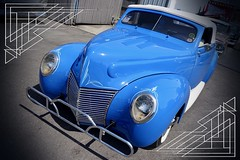 Blue custom with pin stripes (mrgraphic2) Tags: indianapolis indiana blue custom car pinstripes