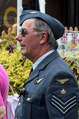 RAF pilot 1. (Bob Green 52) Tags: svr severnvalleyrailway svrwarweekend2017 severnvalley railway train steam smoke war engine loco rails worcestershire 40sweekend reenactment