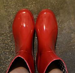 I Got Me Wellies (☁☂It's Raining, It's Pouring☂☁) Tags: boots wellies red rubber slipons