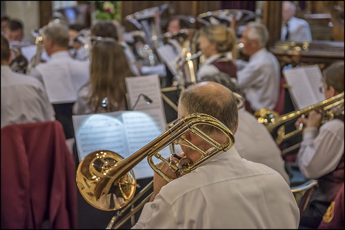 Trombone Section - Photo courtesy of Clive Sutton.