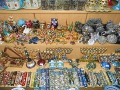 Jerusalem shiny treasures (RollingMashroom) Tags: shop jerusalem owls jewish gold blue stuffs items rondom little things holy land יהדות מנורה מזוזה מזוזות