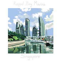 Keppel Bay, Singapore (Plumkin) Tags: magnificent towers building cityscape quiet tranquil bay marina landscape digital singapore keppelbay
