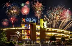 Fireworks Isotopes Park (multi) (G.E.Condit) Tags: gecondit grantcondit albuquerque fireworks isotopes baseball 4thofjuly stadium 6d night neon architecture celebration holiday independanceday fourthofjuly usa america