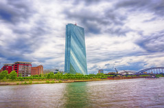 EZB seen from quaiside of Main (jgokoepke) Tags: main frankfurt ezb river germany hdr clouds