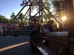 Canobie Lake Park! (Polterguy30) Tags: benches bench silhouettes silhouette sunset sun rides ride pirateship newhampshire canobielakepark