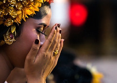 A teenage girl in traditional costume praying before a tooth filing ceremony, Bali island, Canggu, Indonesia (Eric Lafforgue) Tags: asia asian bali bali2337 balinese beliefs canggu ceremony clothing colorimage customs filing headshot hindu hinduism horizontal indigenouspeople indonesia indonesian indonesianculture mesangih oneperson onewomanonly outdoors praying realpeople religion rite rites ritual sideview spiritual toothfiling tradition traveldestination women baliisland