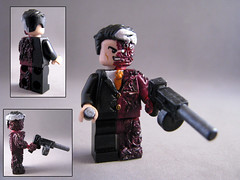 Two face - Lego Custom (-iacopo / Minifigures / Custom-) Tags: batman lego super two face faces evil villain money superheroes custom legocustom minifig minifigcustom imc italy iacopo profeti sculpt green stuff paint toy design minifigsculpt sculpey arvy dent coin justice dog cat league red black